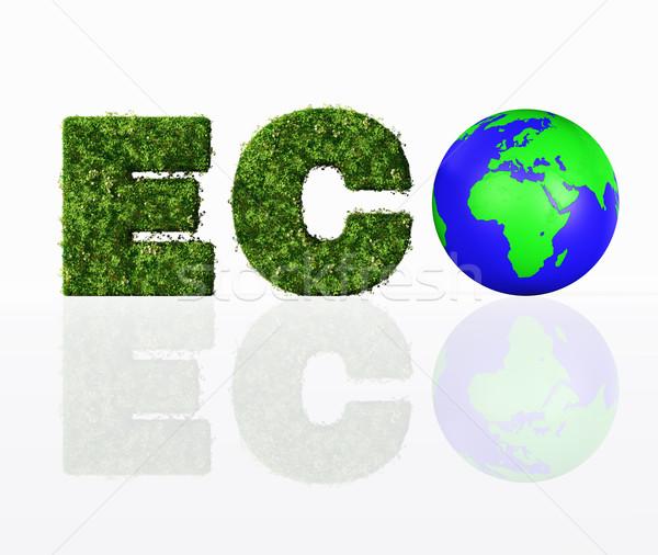 Görmek eco kelime dünya harfler Stok fotoğraf © TaiChesco