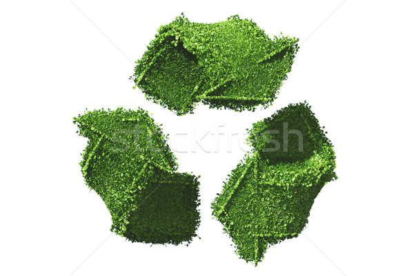 recycle symbol covered by grass Stock photo © TaiChesco