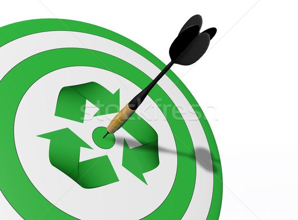 Geri dönüşüm hedef yeşil simge Stok fotoğraf © TaiChesco