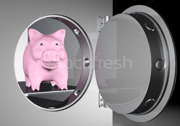 貯金 安全 ピンク 笑みを浮かべて 重金属 ストックフォト © TaiChesco
