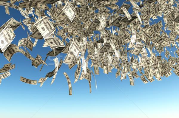 один сто долларов банкнота дождь плотный Сток-фото © TaiChesco
