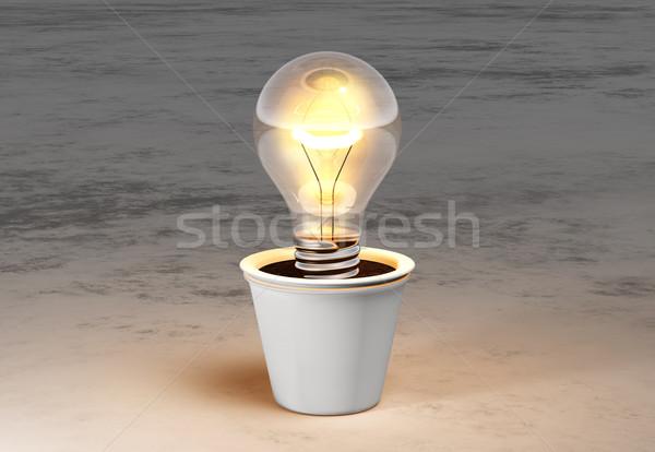 Vaso quente luz branco mentiras Foto stock © TaiChesco