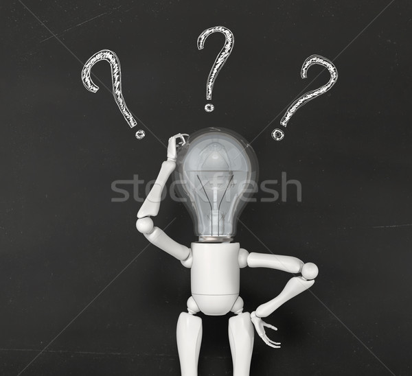 lamp character has no solution Stock photo © TaiChesco