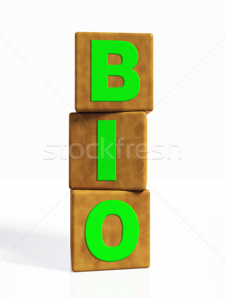 bio word composed by three vertical cubes Stock photo © TaiChesco