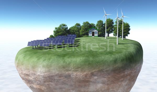 Ecologisch top terrein Stockfoto © TaiChesco