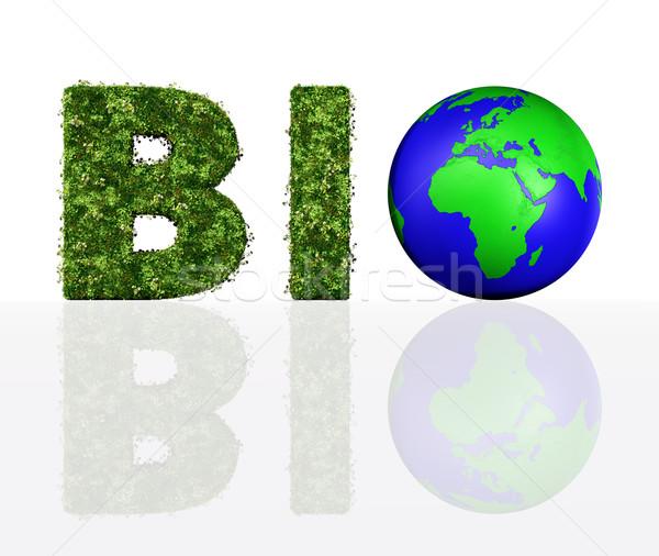 Görmek biyo kelime dünya harfler Stok fotoğraf © TaiChesco