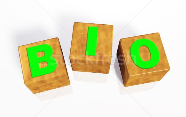 Biyo kelime üç yeşil harfler Stok fotoğraf © TaiChesco