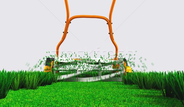 Achteraanzicht werk Maakt een reservekopie bodem Stockfoto © TaiChesco