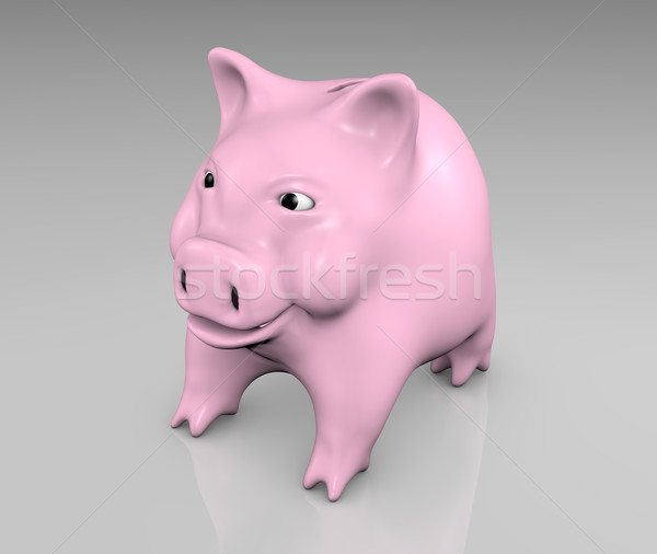 Roze glimlachend klein naar rechtdoor Stockfoto © TaiChesco