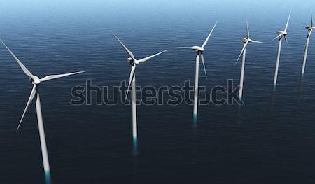 Wind generators on the sea Stock photo © TaiChesco