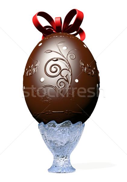 Groot chocolade easter egg ingericht glas vaas Stockfoto © TaiChesco