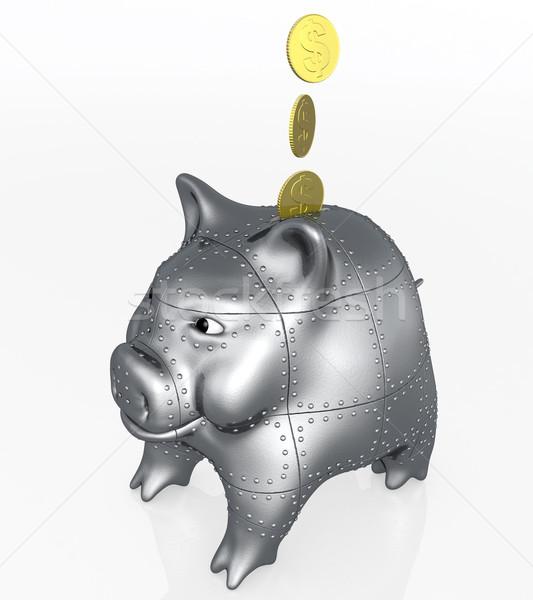 armored piggy bank Stock photo © TaiChesco