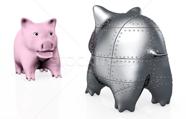 a stranger pig piggy Stock photo © TaiChesco