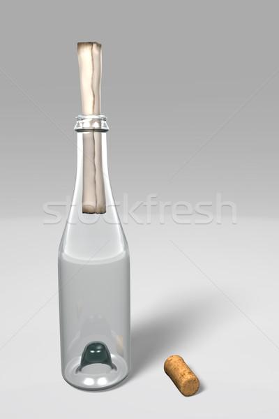 üzenet üveg nem kinyitott előtér dugó Stock fotó © TaiChesco