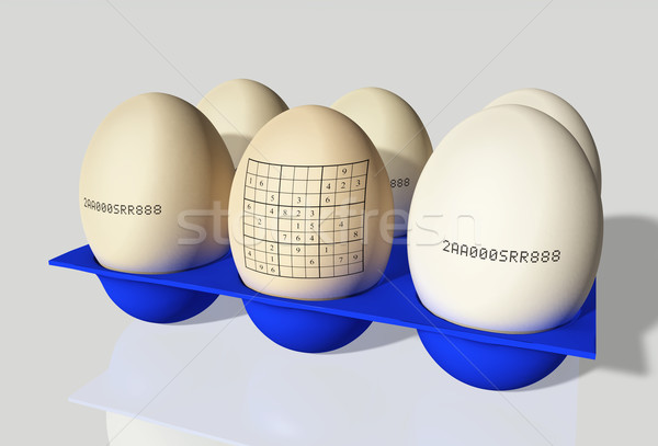 Huevo grupo huevos uno azul Foto stock © TaiChesco