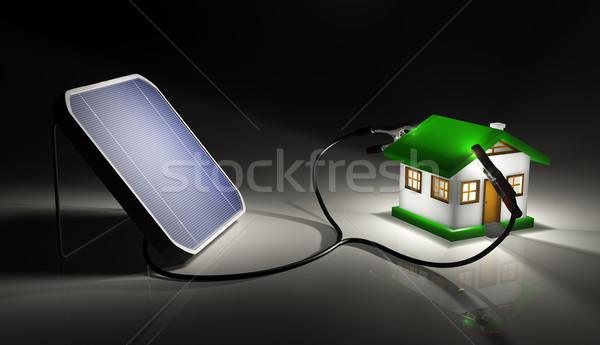 Küçük ev ışık enerji Stok fotoğraf © TaiChesco