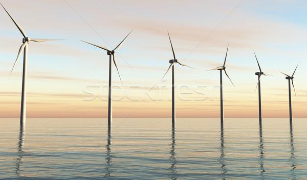 ветер закат мнение шесть белый Сток-фото © TaiChesco