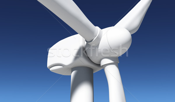 Closeup of a wind generator Stock photo © TaiChesco