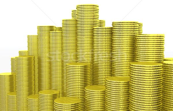 Munten schone gouden verschillend Stockfoto © TaiChesco
