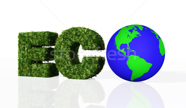 eco word with the world Stock photo © TaiChesco