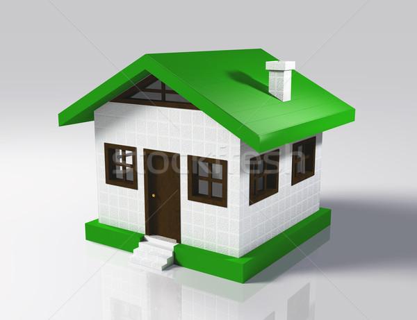 Pequeno casa 3D pequeno modelo Foto stock © TaiChesco