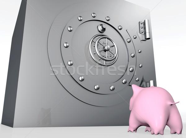豚 を見て 安全 ボトム 表示 ストックフォト © TaiChesco