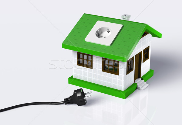 Small house disconnected to the electric current Stock photo © TaiChesco