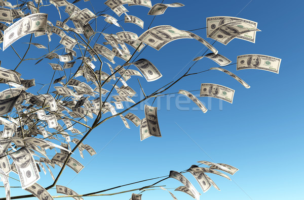 100 dollars banknote instead of the leaves Stock photo © TaiChesco