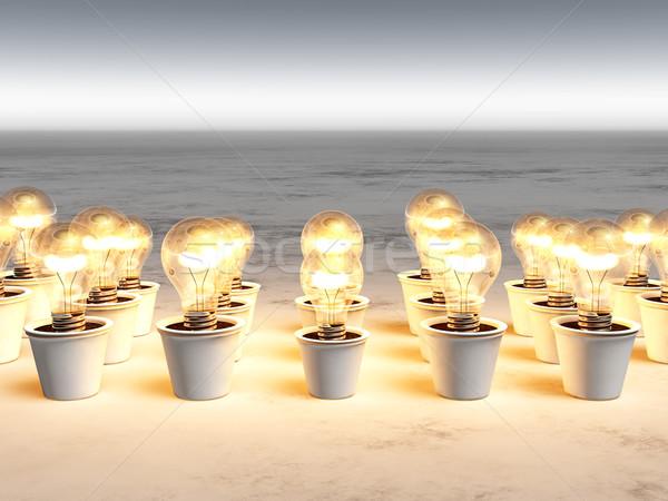 Ampuller sıcak ışık farklı büyüyen Stok fotoğraf © TaiChesco