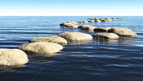 path of stones on the water Stock photo © TaiChesco