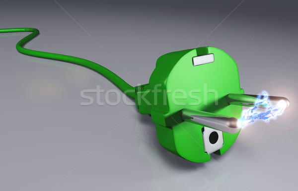 écologique plug haute tension arc vert Photo stock © TaiChesco