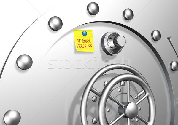 Segura combinación vista brillante puerta amarillo Foto stock © TaiChesco