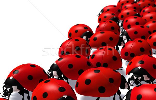 Grup kırmızı beyaz Stok fotoğraf © TaiChesco