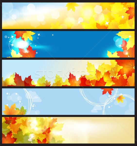 Vector banners ingesteld mooie najaar dag Stockfoto © Taiga