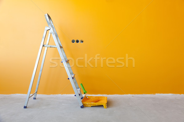 Home Improvement /  ladder, paint can and paint roller Stock photo © Taiga