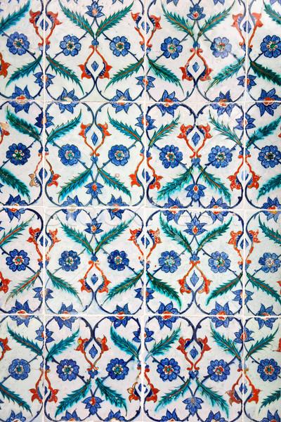 ősi iszlám dísz kézzel készített csempék hagyományos Stock fotó © Taiga