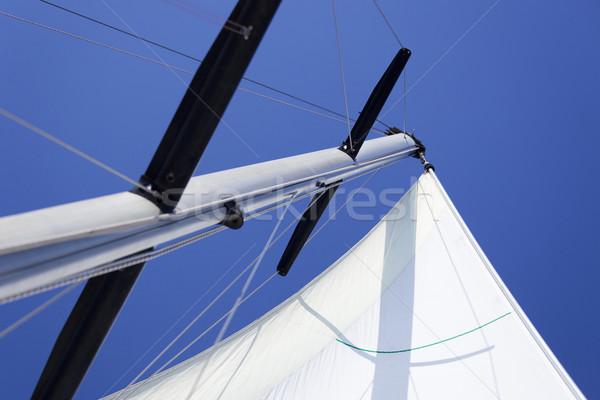 Blanche bateau ciel soleil mer Photo stock © Taiga