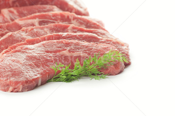 Fresh Cuts of Meat / isolated on white Stock photo © Taiga
