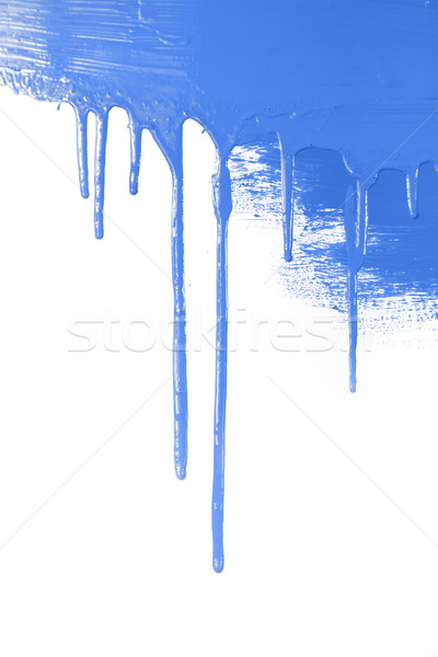 Blue paint  flows / isolated on white background with copy space Stock photo © Taiga