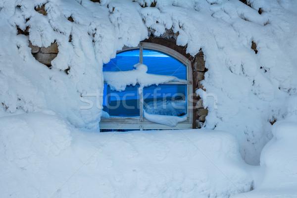 Buio finestra freddo inverno notte casa Foto d'archivio © Taiga