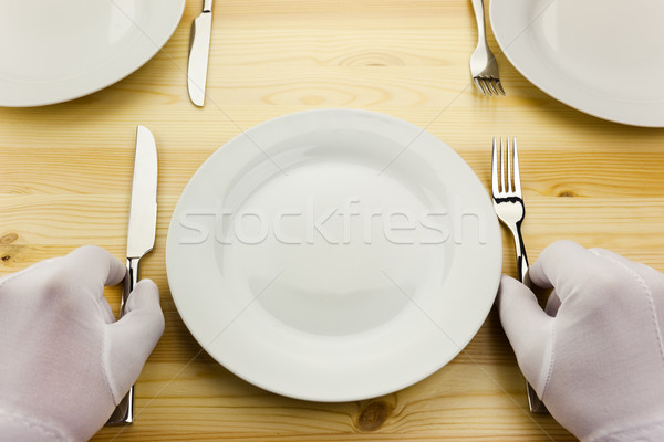 diner serving  / crisis concept Stock photo © Taiga