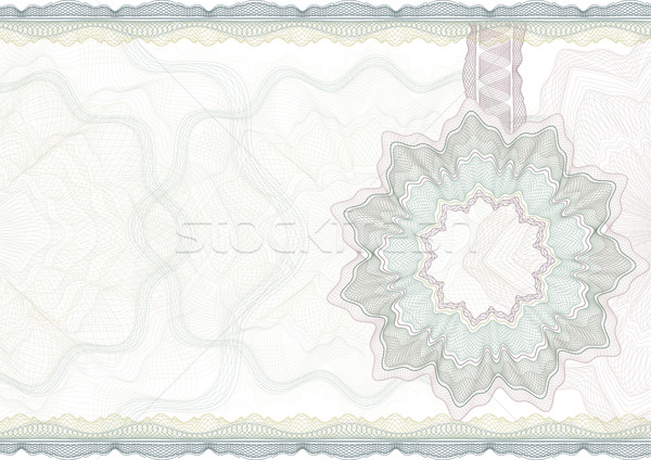 Classic guilloche border for diploma or certificate. Stock photo © Taiga