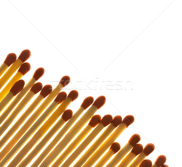Set of Matches close up on white background / with copy space /  Stock photo © Taiga