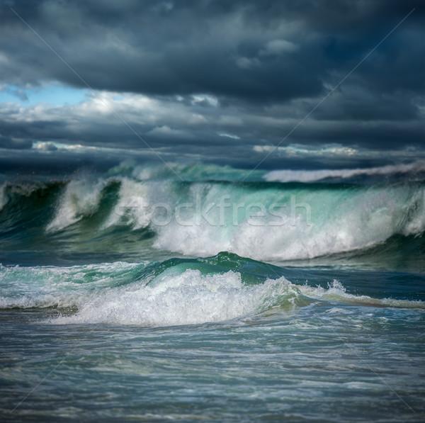 Dangereux orageux météorologiques grand océan vagues Photo stock © Taiga