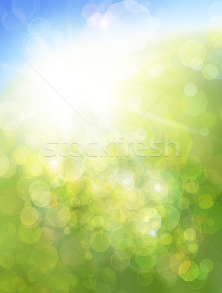 Eco nature / green and blue abstract defocused background with s Stock photo © Taiga