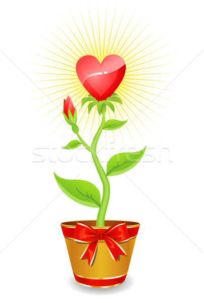 flower heart / grows with love together / vector Stock photo © Taiga