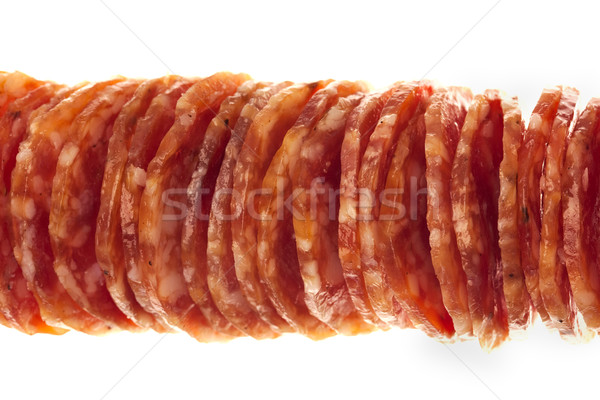 Salami / macro picture of few slices isolated  Stock photo © Taiga
