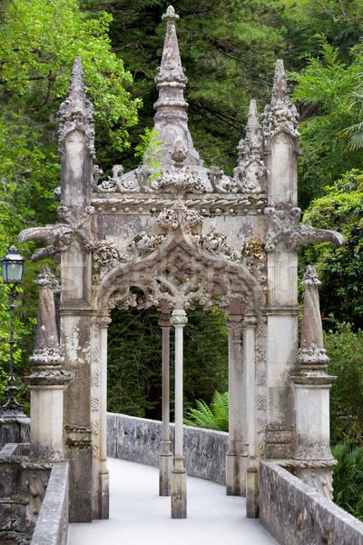 Old European Arhitecture in the park / Quinta da Regaleira Palac Stock photo © Taiga
