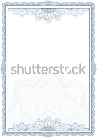 Classic guilloche border for diploma or certificate / vector/ A4 Stock photo © Taiga