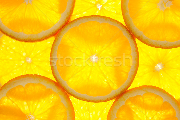 Orange slices background / macro / back lit Stock photo © Taiga